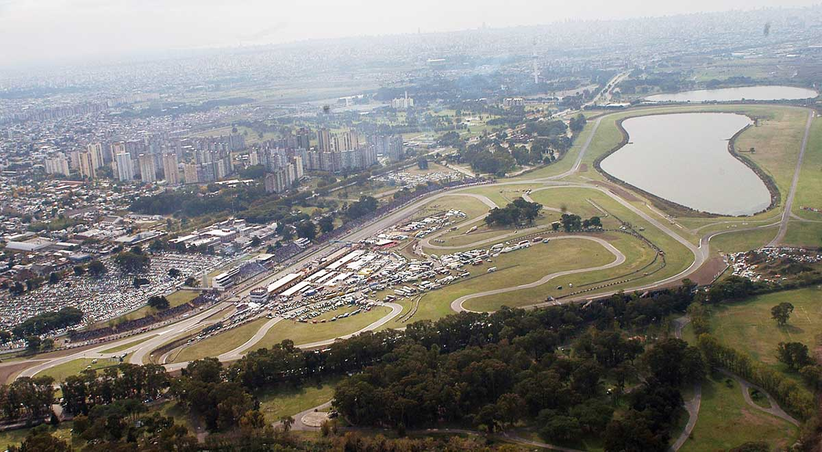 Vista aérea del autódromo de Buenos Aires.