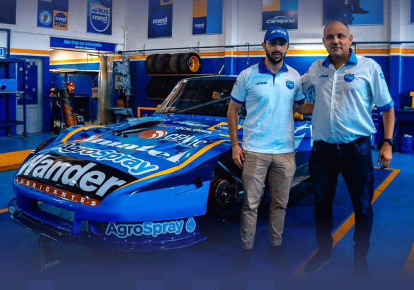 Ruggiero y Medina con el Ford del RUS Med.