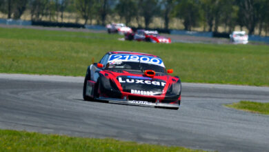 Dodge Bracco, poleman del TC Pista Mouras en La Plata.
