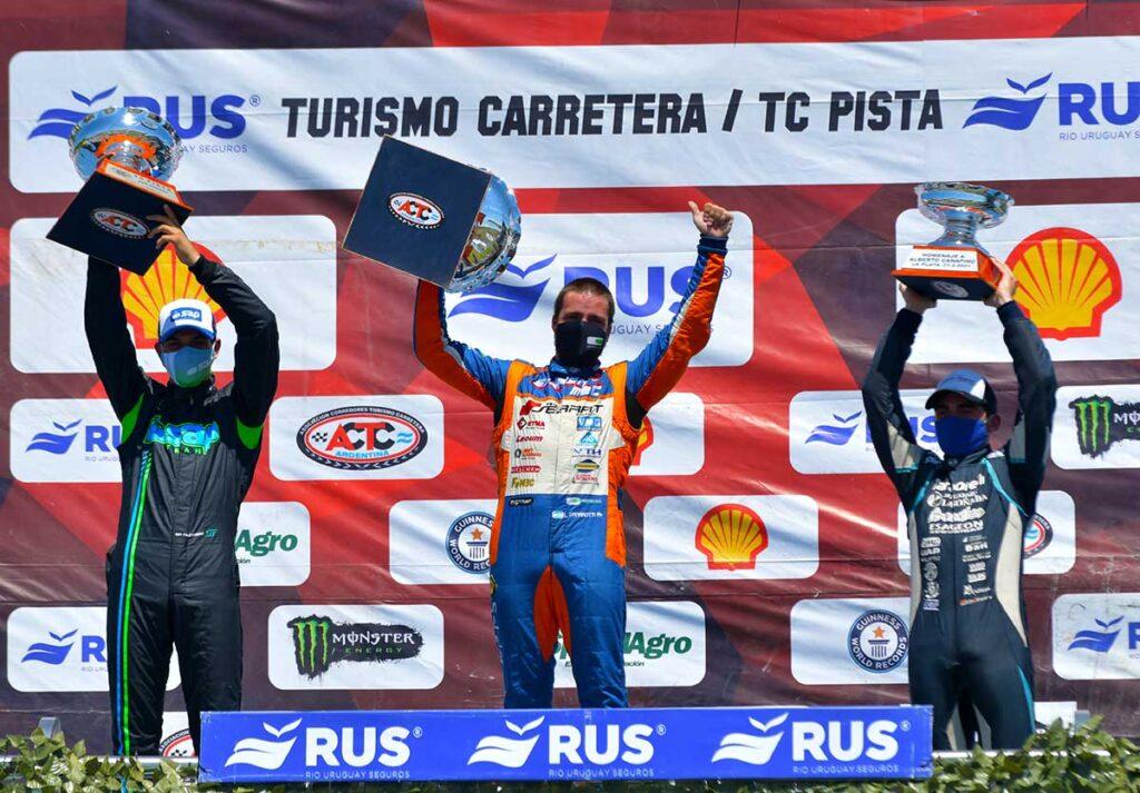 Panarotti secundado por Reutemann y Vázquez en el 1° podio de de TC Pista en 2021.
