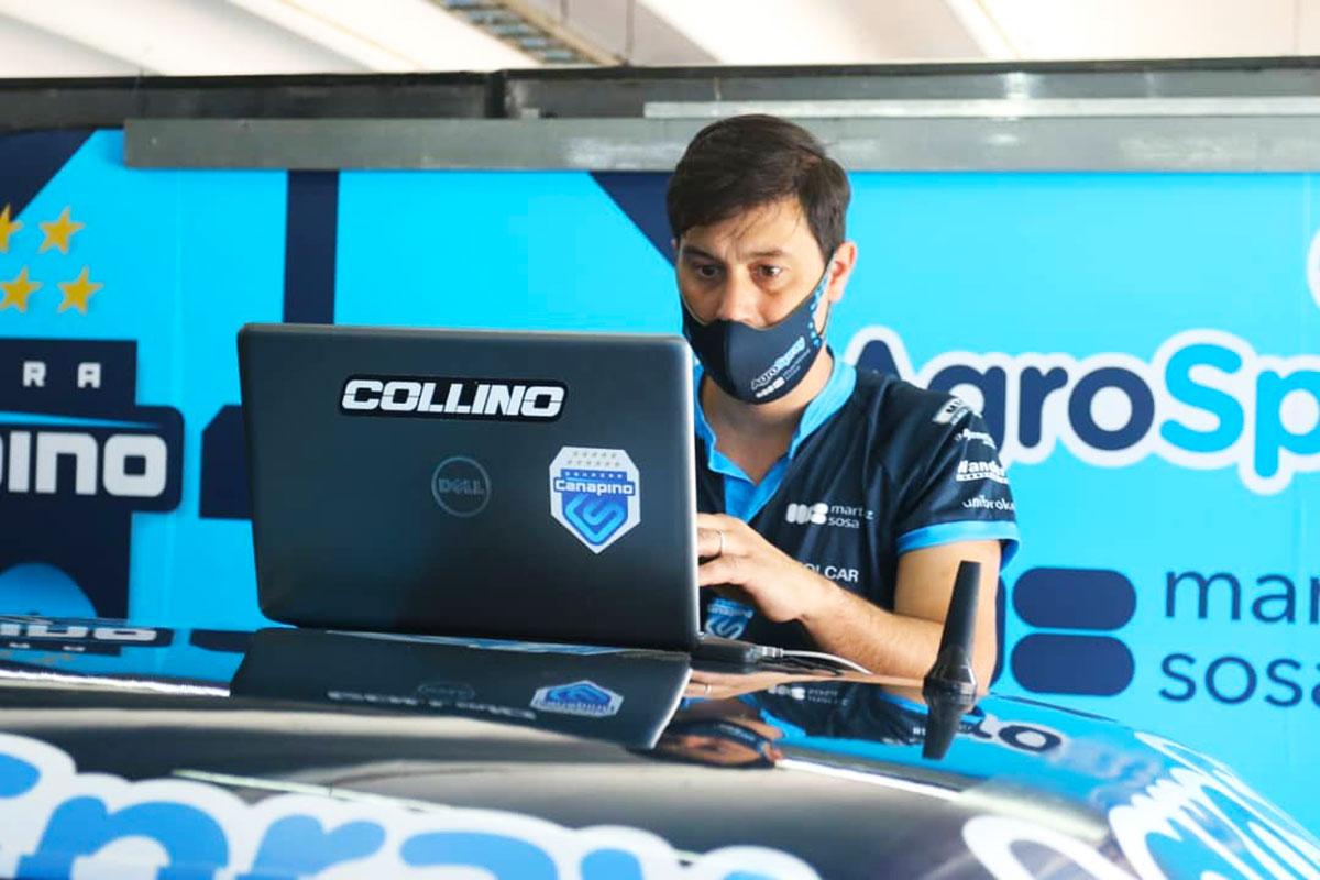 Lucas Alonso frente a la computadora.