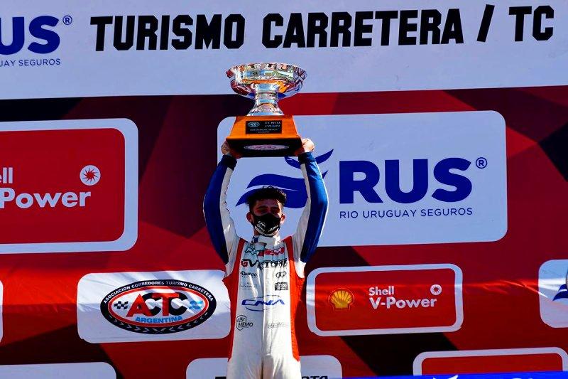 Marcos Castro en el podio.