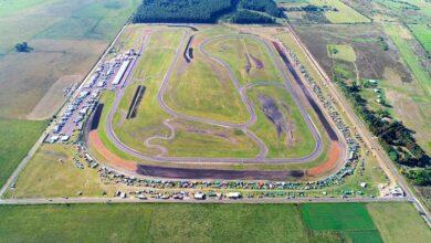 Vista aérea del circuito de Concepción del Uruguay.