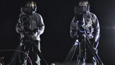 Camarógrafos de TV en el TC.