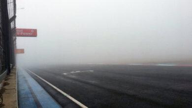 La niebla en el autódromo de San Nicolás