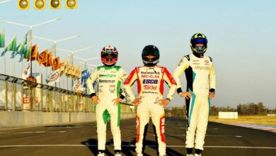 Werner, Santero y Gini en la pista