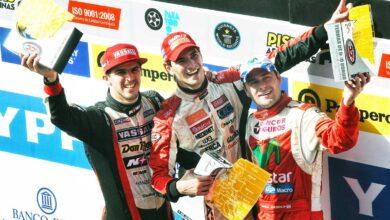 Ardusso, Rossi y Ledesma en el podio.