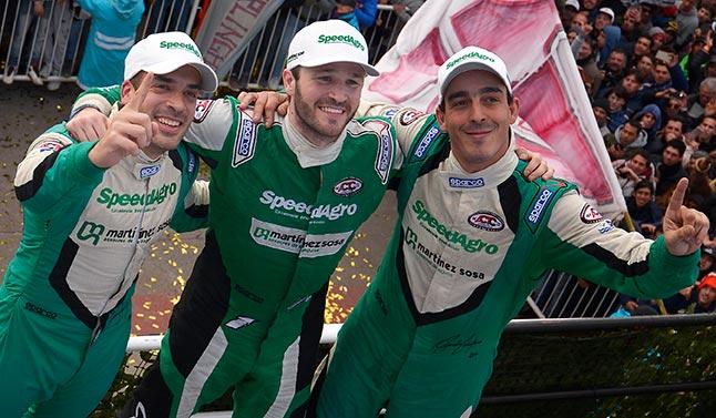 Canapino, Ponte y López en el podio.