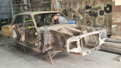 La réplica del Ford Falcon de Angeletti