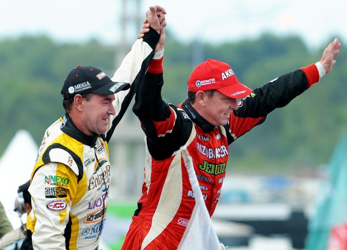 Ortelli y Martínez en el podio