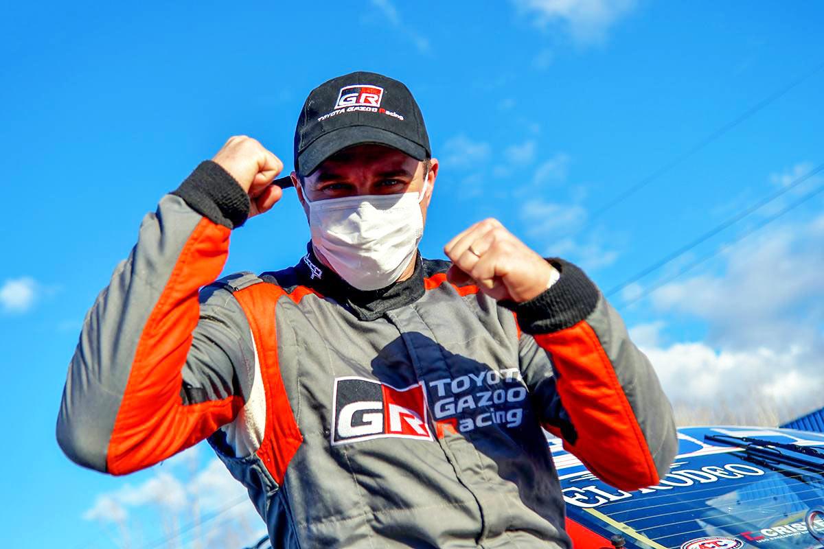 Werner festeja la pole position.