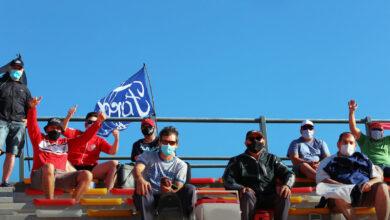 Público en tribunas.
