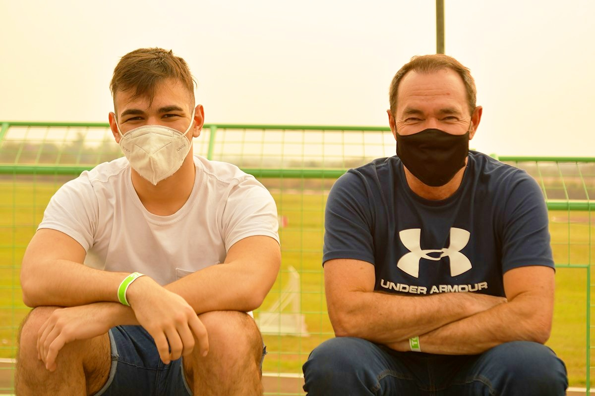 Agustín Martínez y Gurí Martínez, relajados en Posadas