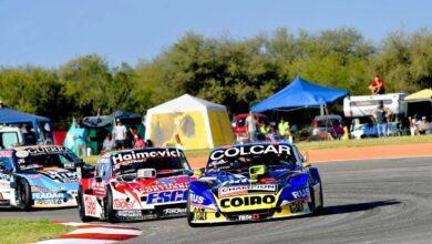El Ford de Werner detrás de la Chevy de Mazzacane en San Luis 2019