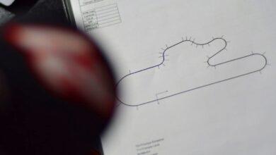Dibujo del circuito de La Plata sin chicana