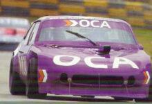 Juan María Traverso con el Chevrolet en Balcarce