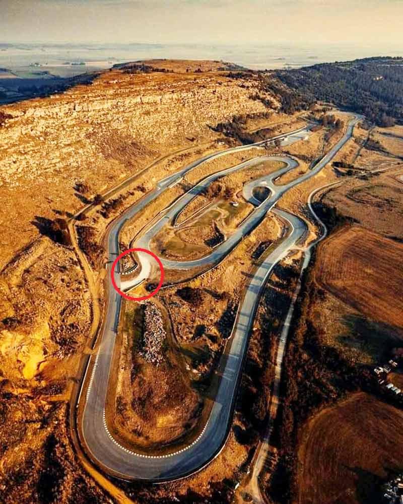Vista aérea del autódromo de Balcarce