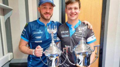 Agustin y Matias Canapino con sus trofeos de San Luis